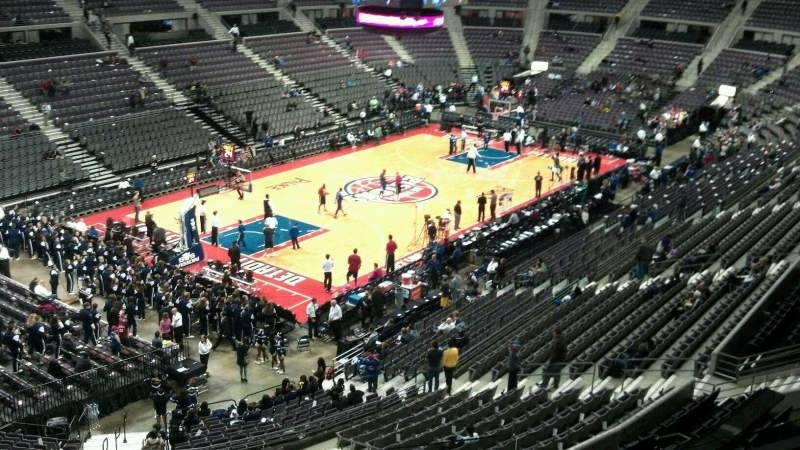 Seating view for The Palace of Auburn Hills Section 220 Row 4 Seat 001