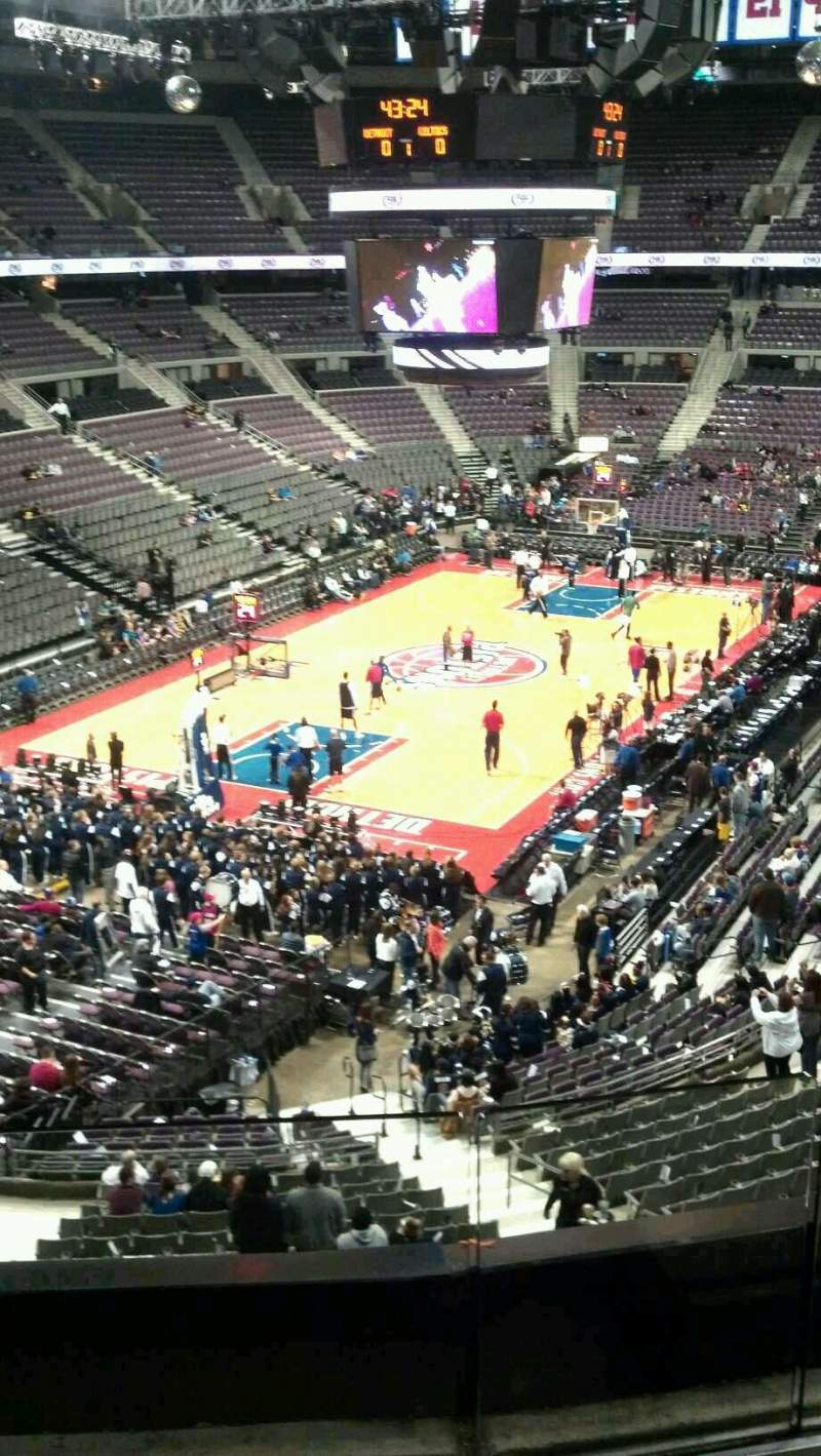 Seating view for The Palace of Auburn Hills Section 221 Row 2 Seat 002
