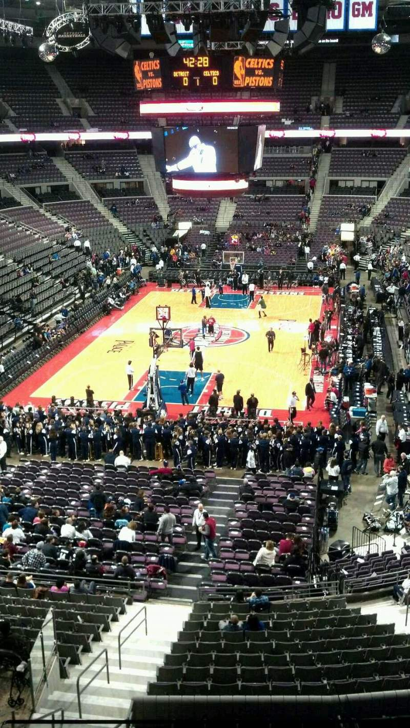 Seating view for The Palace of Auburn Hills Section 222 Row 2 Seat 014