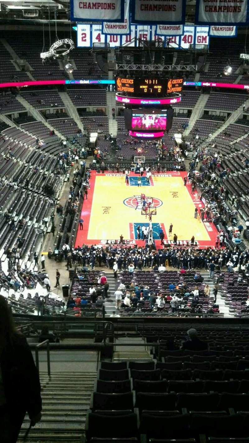 Seating view for The Palace of Auburn Hills Section 223 Row 19 Seat 022