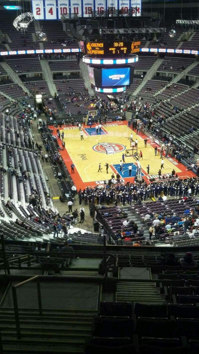Seating view for The Palace of Auburn Hills Section 224 Row 16 Seat 023