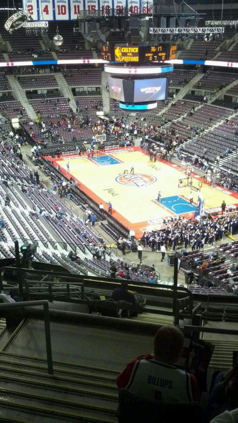 Seating view for The Palace of Auburn Hills Section 225 Row 14 Seat 024