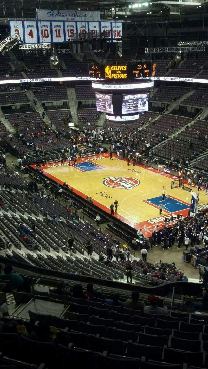 Seating view for The Palace of Auburn Hills Section 226 Row 13 Seat 12