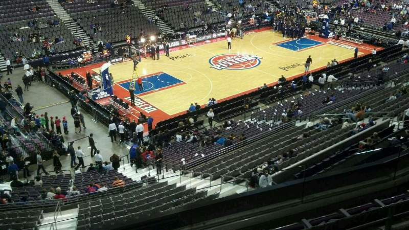 Seating view for The Palace of Auburn Hills Section 204 Row 4 Seat 001