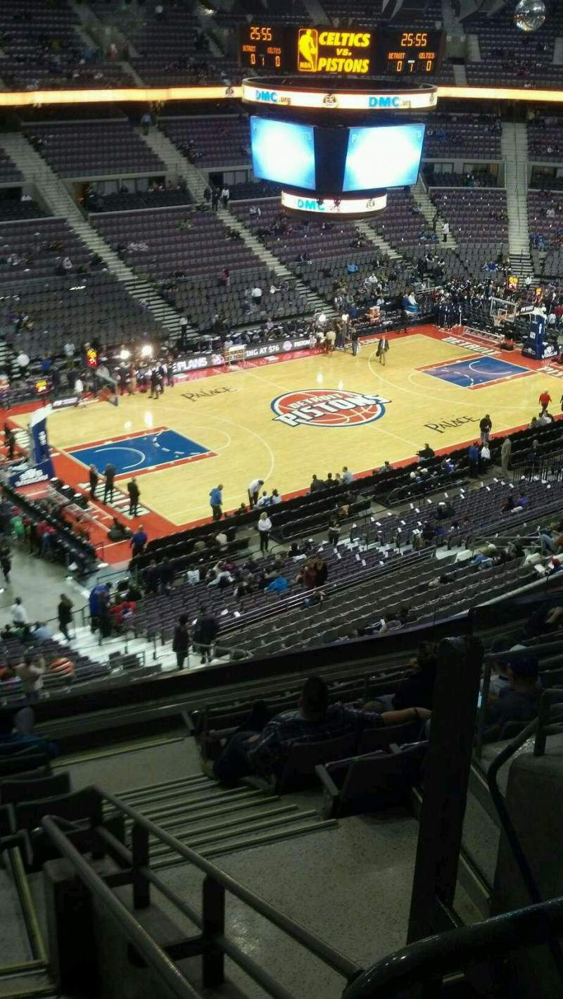 Seating view for The Palace of Auburn Hills Section 204 Row 10 Seat 002
