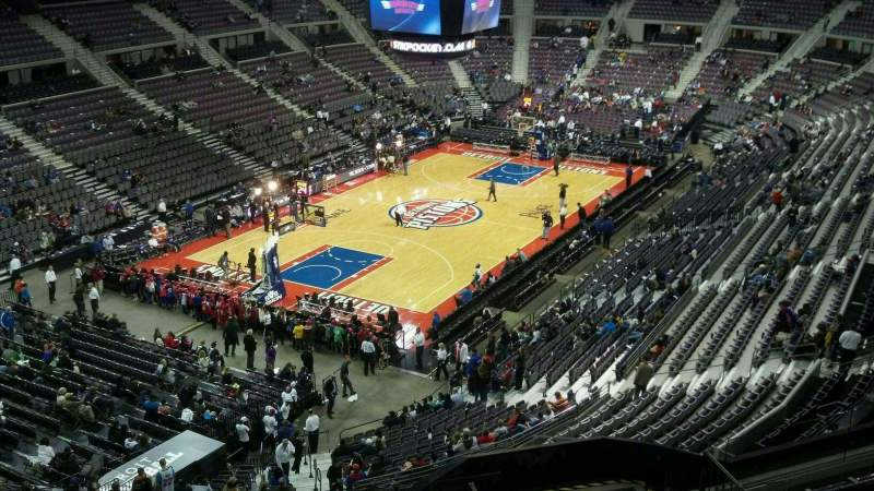 Seating view for The Palace of Auburn Hills Section 205 Row 8 Seat 013