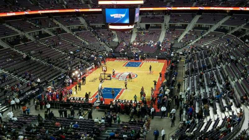 Seating view for The Palace of Auburn Hills Section 207 Row 4 Seat 4