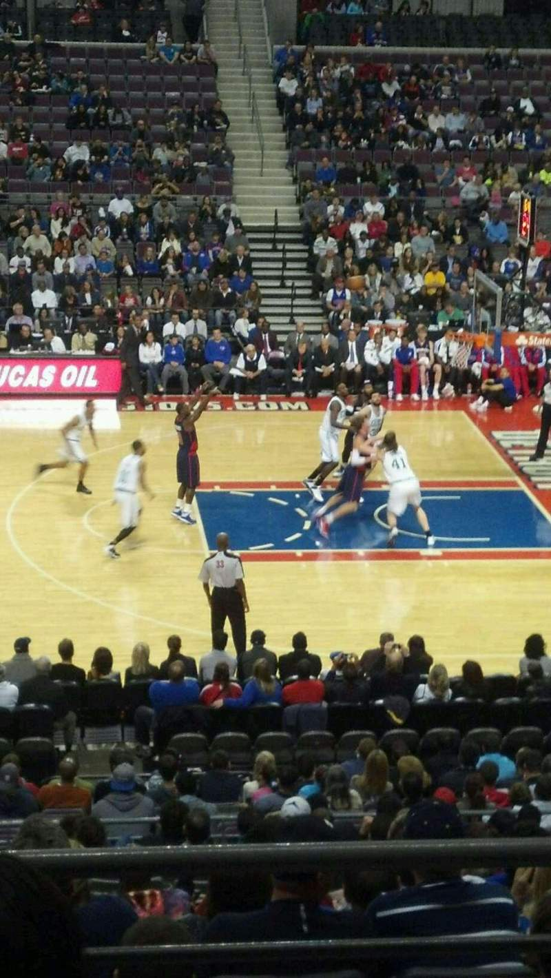 Seating view for The Palace of Auburn Hills Section 126 Row p Seat 009