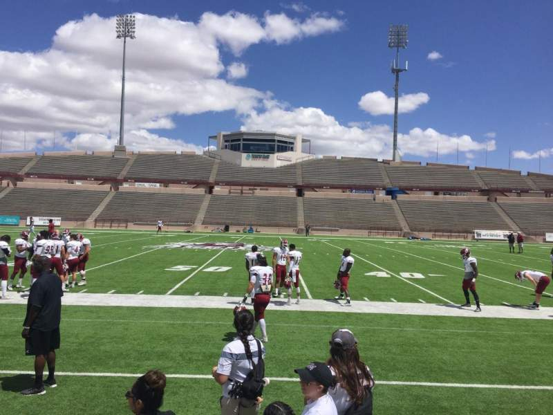 Seating view for Aggie Memorial Stadium Section G Row 1 Seat 11