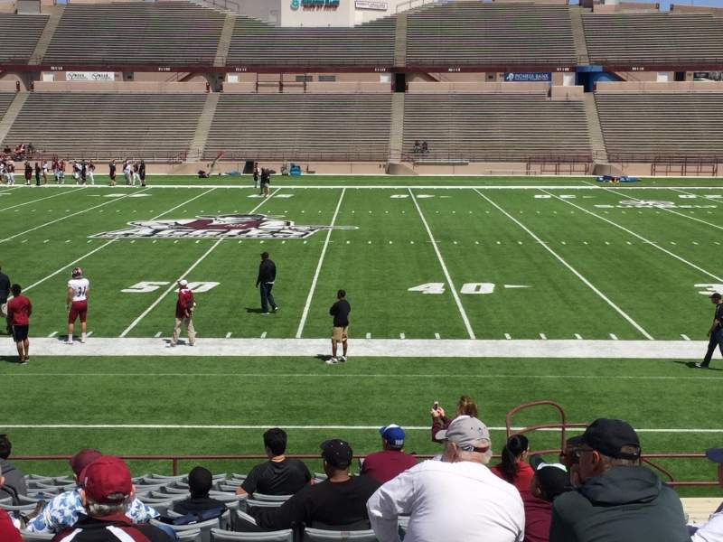 Seating view for Aggie Memorial Stadium Section F Row 18 Seat 5