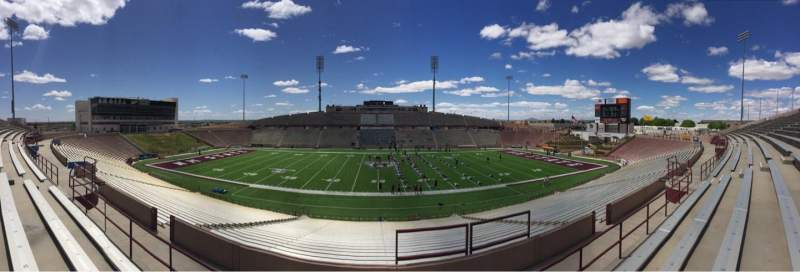Seating view for Aggie Memorial Stadium