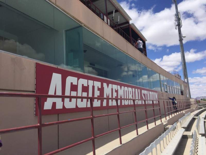 Seating view for Aggie Memorial Stadium Section GG1 Row 45 Seat 6