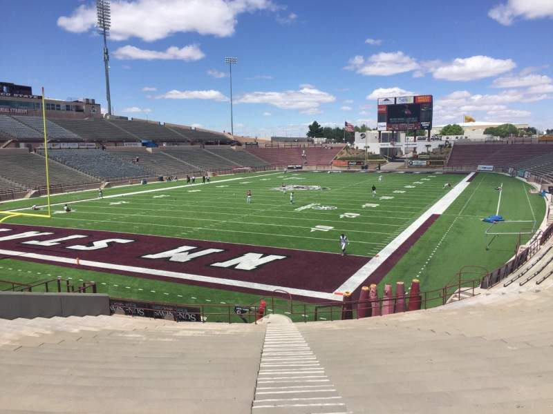 Seating view for Aggie Memorial Stadium Section Y Row 18 Seat 36