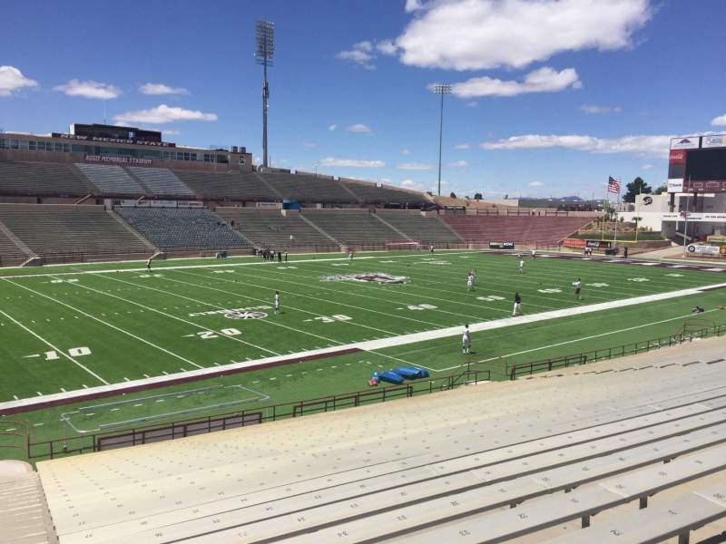 Seating view for Aggie Memorial Stadium Section W Row 18 Seat 36