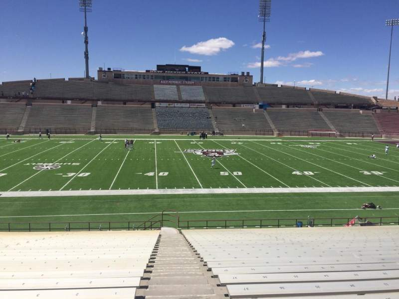 Seating view for Aggie Memorial Stadium Section U Row 18 Seat 1