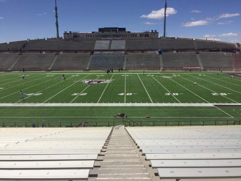Seating view for Aggie Memorial Stadium Section T Row 18 Seat 1