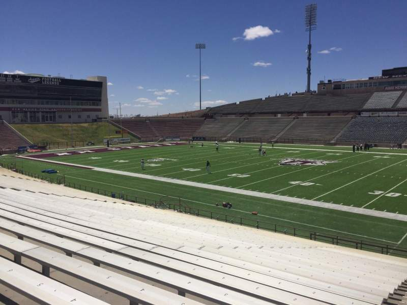 Seating view for Aggie Memorial Stadium Section S Row 18 Seat 3