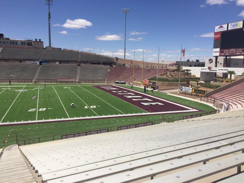 Seating view for Aggie Memorial Stadium Section R Row 18 Seat 36