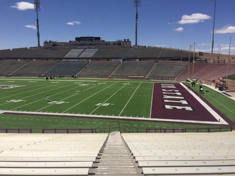 Seating view for Aggie Memorial Stadium Section Q Row 18 Seat 32