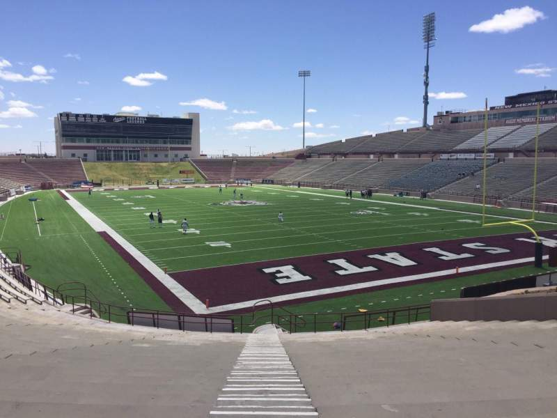 Seating view for Aggie Memorial Stadium Section P Row 18