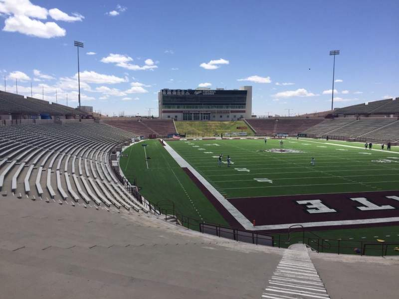 Seating view for Aggie Memorial Stadium Section O Row 18