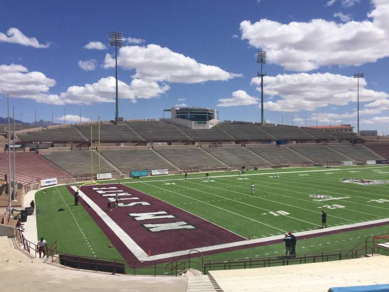 Seating view for Aggie Memorial Stadium Section K Row 18 Seat 36