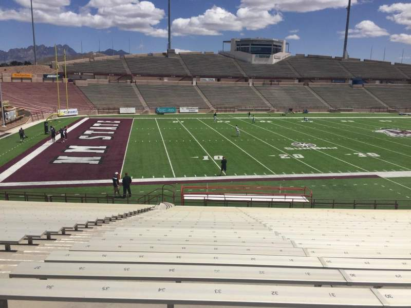 Seating view for Aggie Memorial Stadium Section J Row 18 Seat 33