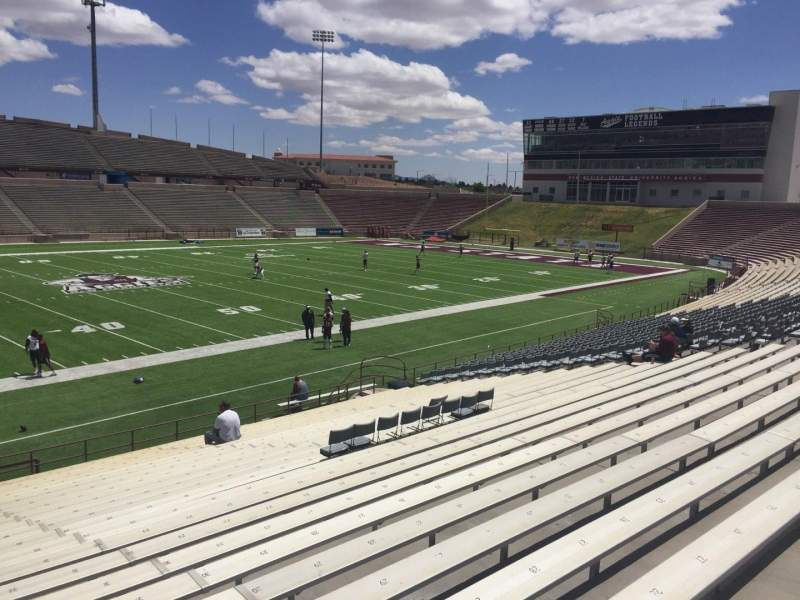 Seating view for Aggie Memorial Stadium Section I Row 17 Seat 31