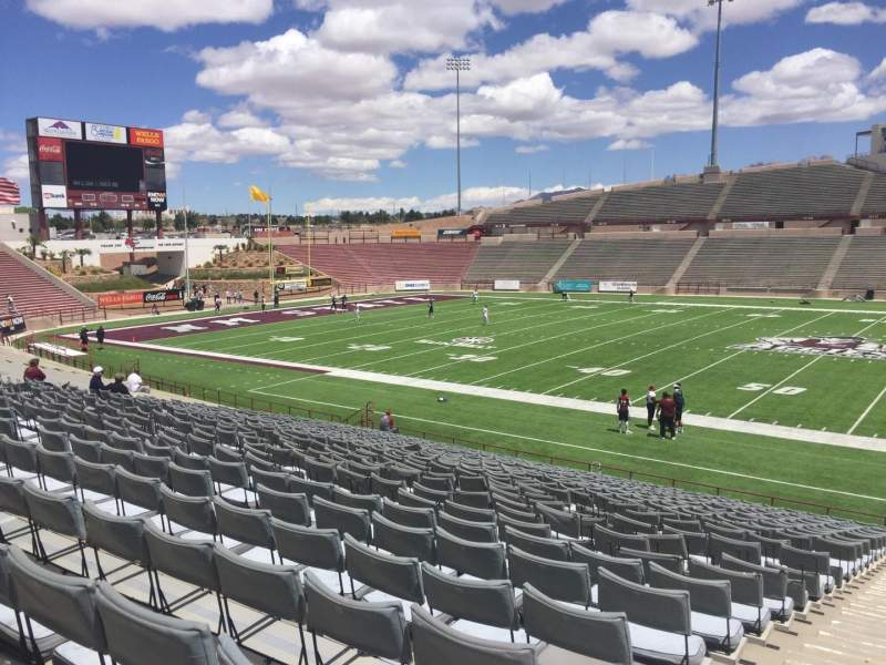 Seating view for Aggie Memorial Stadium Section H Row 17 Seat 1