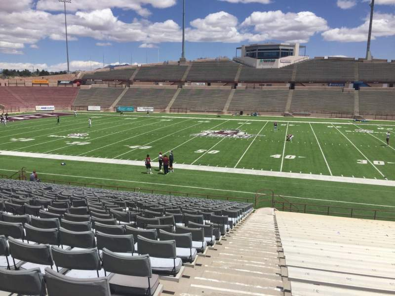Seating view for Aggie Memorial Stadium Section G Row 18 Seat 3
