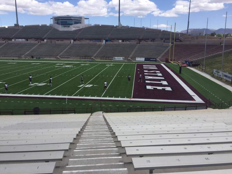 Seating view for Aggie Memorial Stadium Section E Row 18 Seat 1