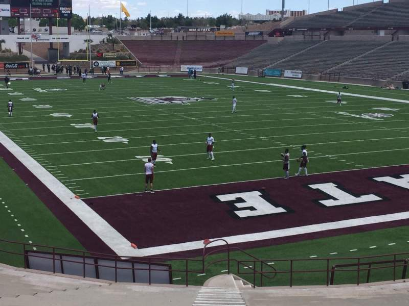 Seating view for Aggie Memorial Stadium Section B Row 14