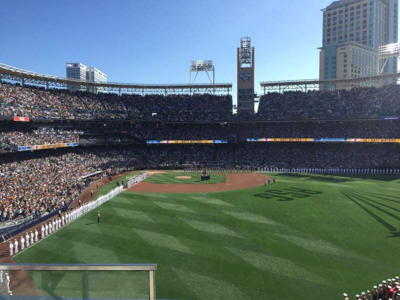 Seating view for PETCO Park Section 231 Row 2 Seat 1