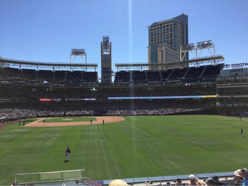 Seating view for PETCO Park Section 133 Row 11 Seat 1