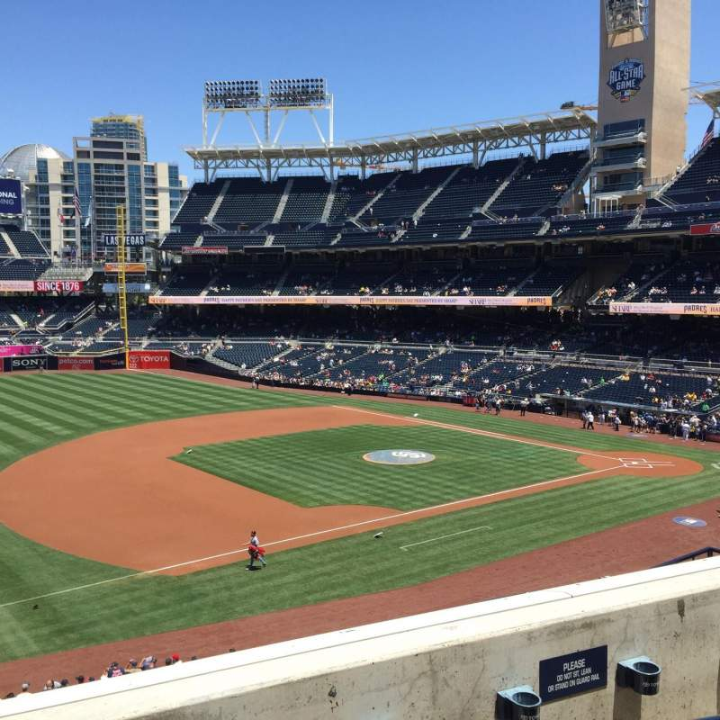 Seating view for PETCO Park Section 214 Row 3 Seat 18