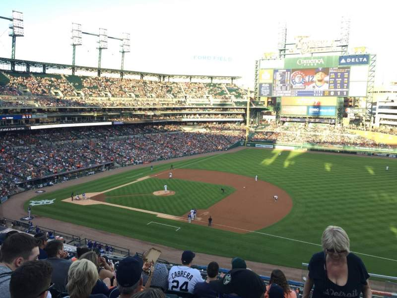Seating view for Comerica Park Section 218 Row 7 Seat 5