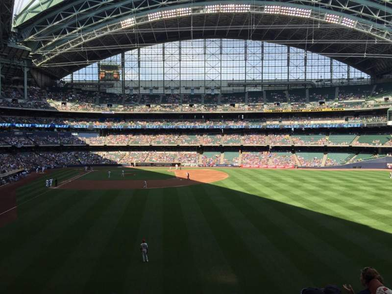 Seating view for Miller Park Section 204 Row 6 Seat 19