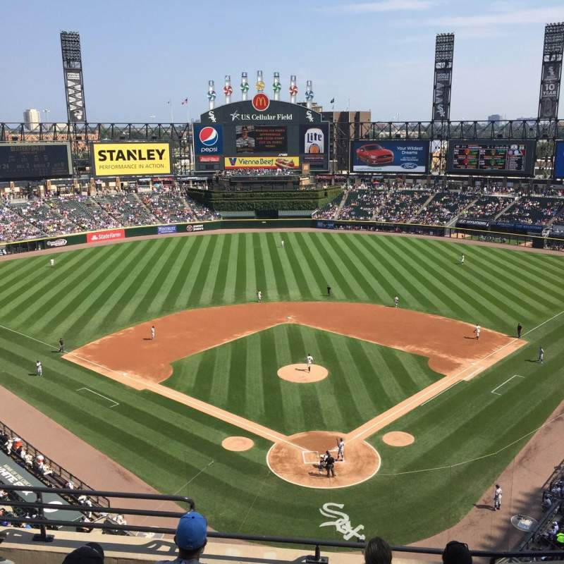 Seating view for Guaranteed Rate Field Section 533 Row 6 Seat 8