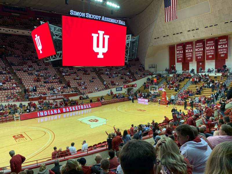 Seating view for Simon Skjodt Assembly Hall Section L Row 11 Seat 4