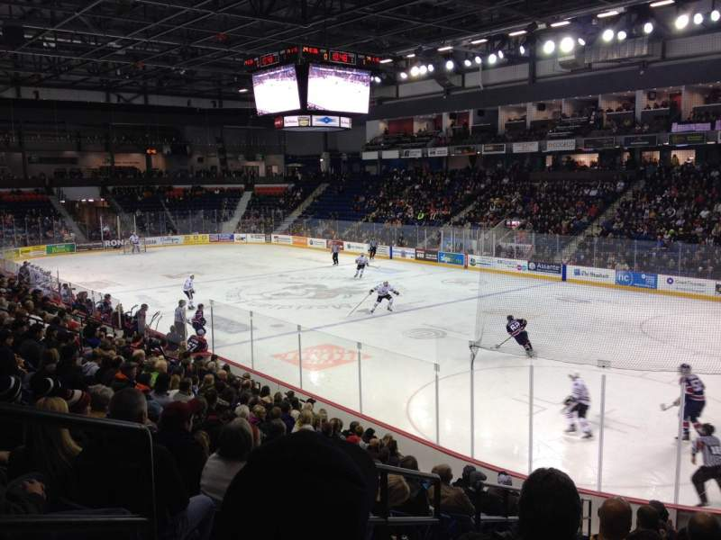 Seating view for Meridian Centre Section 102 Row P Seat 26