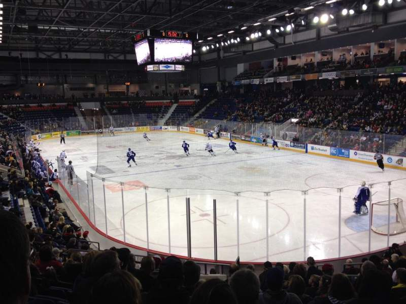 Seating view for Meridian Centre Section 102 Row P Seat 6