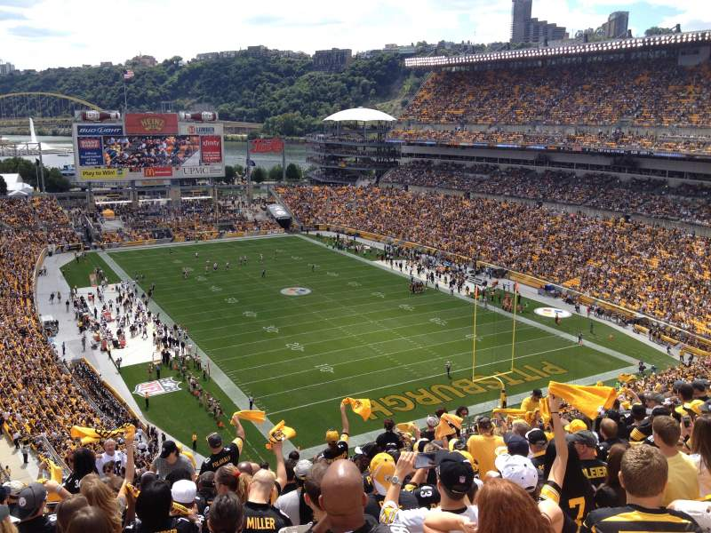 Seating view for Heinz Field Section 519 Row U Seat 18