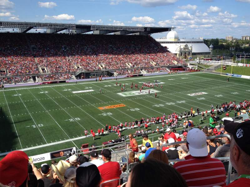 Seating view for TD Place Stadium Section WW Row 15 Seat 3