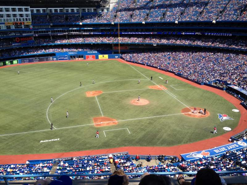 Seating view for Rogers Centre Section 530L Row 5 Seat 103
