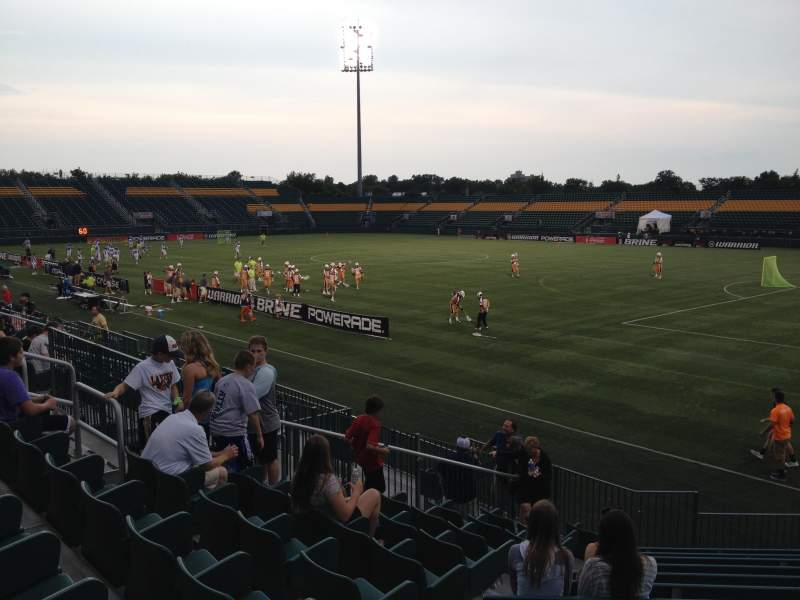 Seating view for Sahlen's Stadium Section 102 Row L Seat 13