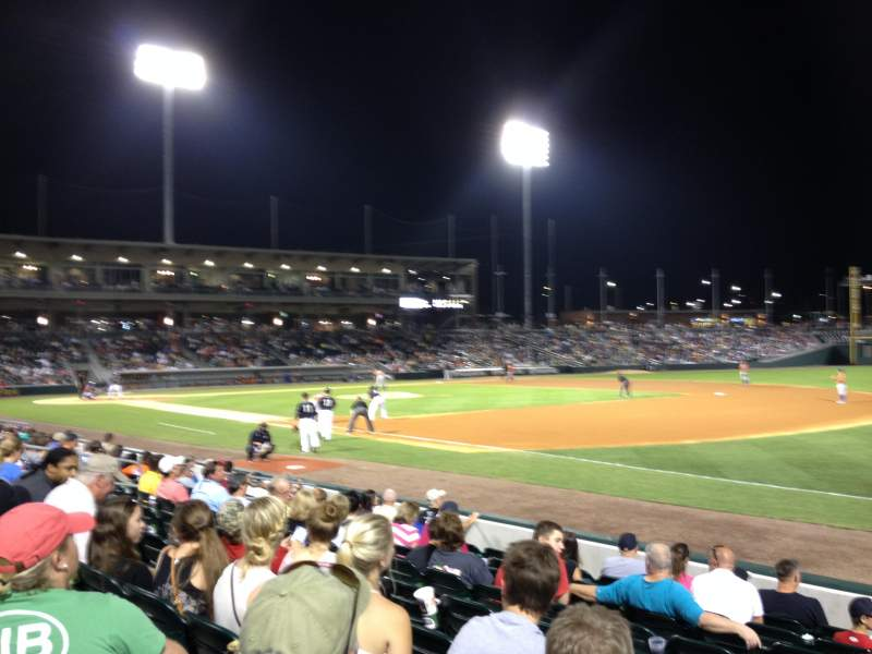 Seating view for BB&T Ballpark (Charlotte) Section 104 Row J Seat 8