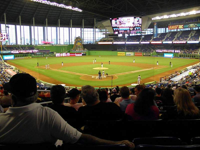 Seating view for Marlins Park Section 14 Row 15 Seat 12