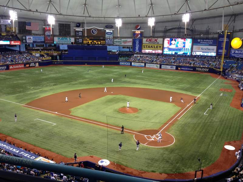 Seating view for Tropicana Field Section 303 Row B Seat 3