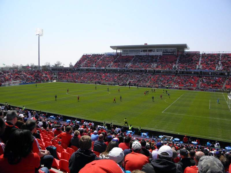 Seating view for BMO Field Section 105 Row 29 Seat 10