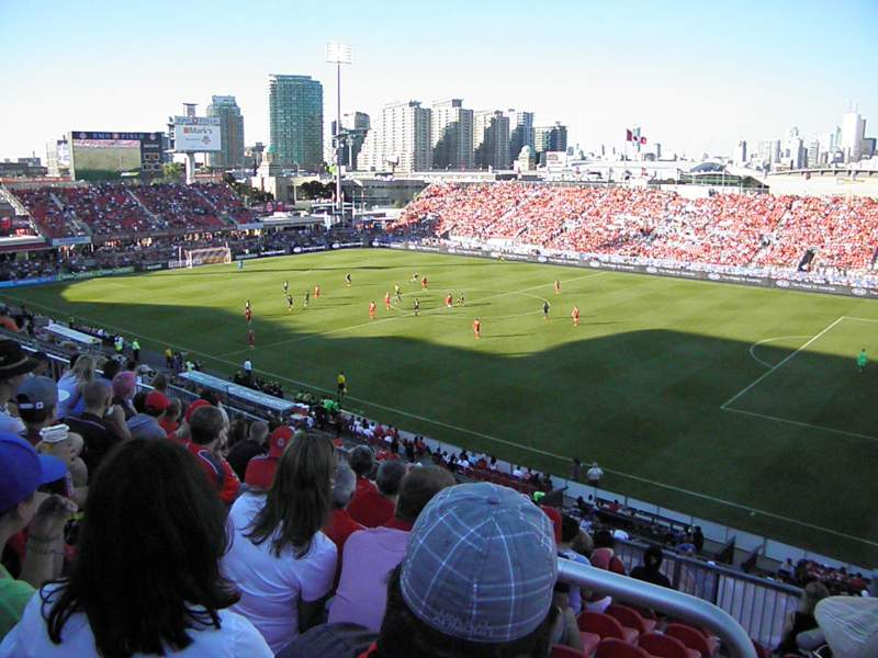 Seating view for BMO Field Section 220 Row 9 Seat 1